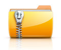 Zip folder icon Royalty Free Stock Photography