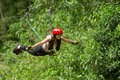 Zip Line Fun Royalty Free Stock Photo