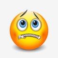 Zipped mouth smiley, emoticon, emoji - vector illustration Royalty Free Stock Photo