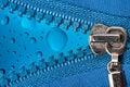 Zipper com gotas da cor Fotografia de Stock Royalty Free