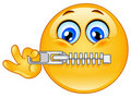 Zipper emoticon Royalty Free Stock Photo