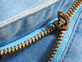 Zipper fragment Royalty Free Stock Photo
