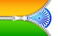 Zipper in India Flag Stock Image