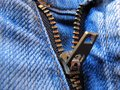 Zipper jeans Royalty Free Stock Photo
