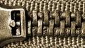 Zipper macro Stock Images