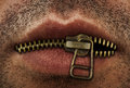 Zipper mouth Royalty Free Stock Photo