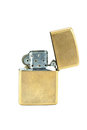 Zippo lighter brass metal isolated on white background Stock Image