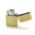 Zippo lighter closed up isolated on white background Stock Image