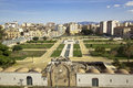 Zisa gardens arab style view from the castle palermo sicily Royalty Free Stock Photos