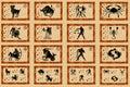 Znaki grać główna rolę zodiaka Zdjęcia Royalty Free