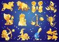 Znaki Zodiak. Zdjęcia Stock