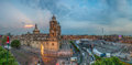 Zocalo square and Metropolitan cathedral of Mexico city Royalty Free Stock Photo
