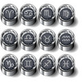 Zodiac astrology button set Stock Images