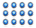 Zodiac astrology signs button set eps Stock Photo