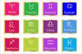 Zodiac Astrology Signs Set Royalty Free Stock Photo