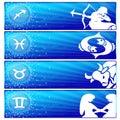 Zodiac banner set (02) Royalty Free Stock Photo