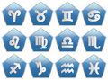 Zodiac blue pentagon icon Stock Photo