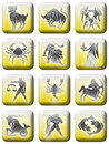 Zodiac button set (02) Royalty Free Stock Photos