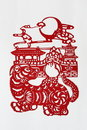Zodiac Chinese Paper-cutting (Dog) Royalty Free Stock Photo