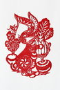 Zodiac Chinese Paper-cutting (Rabbit) Royalty Free Stock Photo