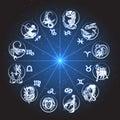 stock image of  Zodiac Circle Horoscope