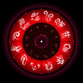 Zodiac circle with horoscope signs Royalty Free Stock Photo
