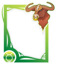 Zodiac frame series: Taurus Royalty Free Stock Images