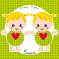 Zodiac- gemini Royalty Free Stock Photo