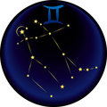 Zodiac Gemini Sign Stock Images