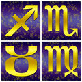 Zodiac gold sign (03) Stock Photo