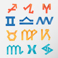 Zodiac horoscope sign icons