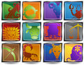 Zodiac Horoscope Icons Royalty Free Stock Photo