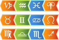 Zodiac Horoscope Icons - Chevron Stock Images