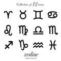 Zodiac icon set.