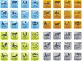 Zodiac icons Royalty Free Stock Photo