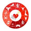 The zodiac set Royalty Free Stock Photo