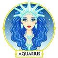 Zodiac sign Aquarius. Royalty Free Stock Photo