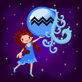 Zodiac sign Aquarius Royalty Free Stock Photo