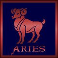 Zodiac  sign aries Stock Photos