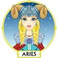 Zodiac sign Aries. Royalty Free Stock Photo