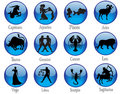 Zodiac sign buttons Royalty Free Stock Photos