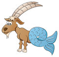 Zodiac sign capricorn vector illustration of a Royalty Free Stock Photo