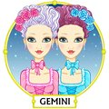 Zodiac sign Gemini. Royalty Free Stock Photo