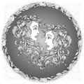 Zodiac sign Gemini. Royalty Free Stock Photo