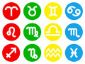 Zodiac sign icons vector illustration of Stock Image