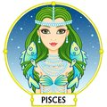 Zodiac sign Pisces. Royalty Free Stock Photo