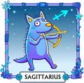 Zodiac sign Sagittarius. Royalty Free Stock Photo