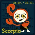 Zodiac Sign - Scorpio Stock Photography