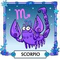 Zodiac sign Scorpio. Royalty Free Stock Photo