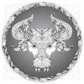 Zodiac sign Taurus Royalty Free Stock Photo